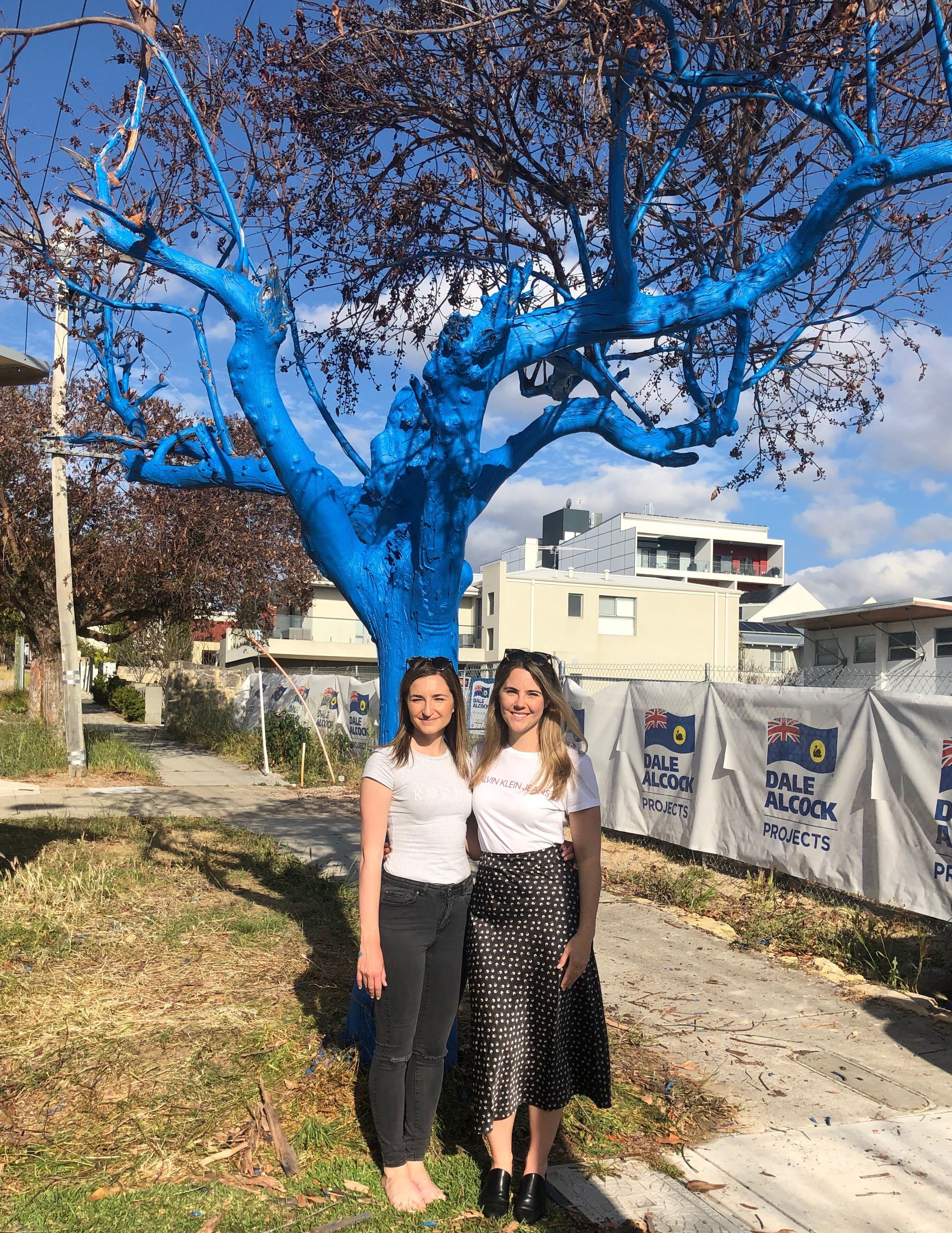 Metro Perth gets its first blue tree thanks to Marketforce and The Blue Tree Project