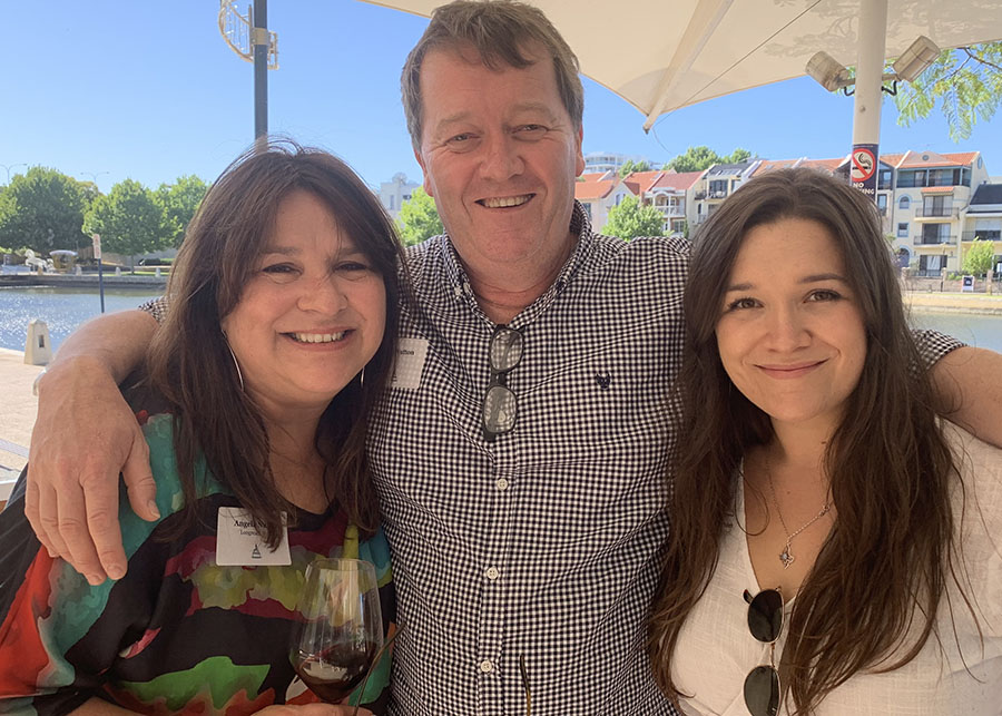 John Driscoll and Angela Nutton's Longreach celebrates one year with clients and media