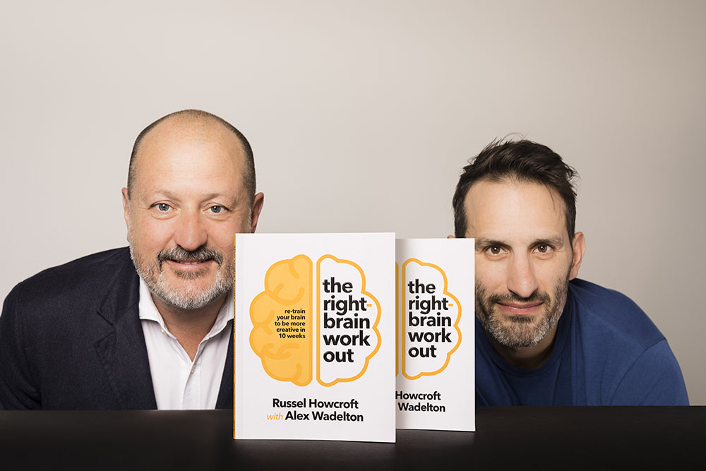 Russel Howcroft and Alex Wadelton team up to release new book 'The Right-brain Workout'