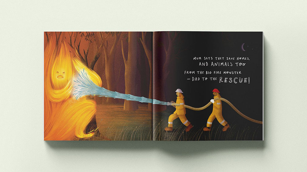 Carly Moone, designer at The Brand Agency, launches children's book to raise money for bushfire victims