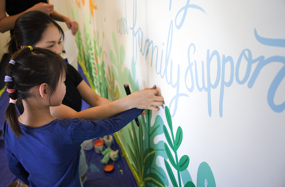 The Brand Agency creates flourishing new wall mural for local children's charity Kids Are Kids!