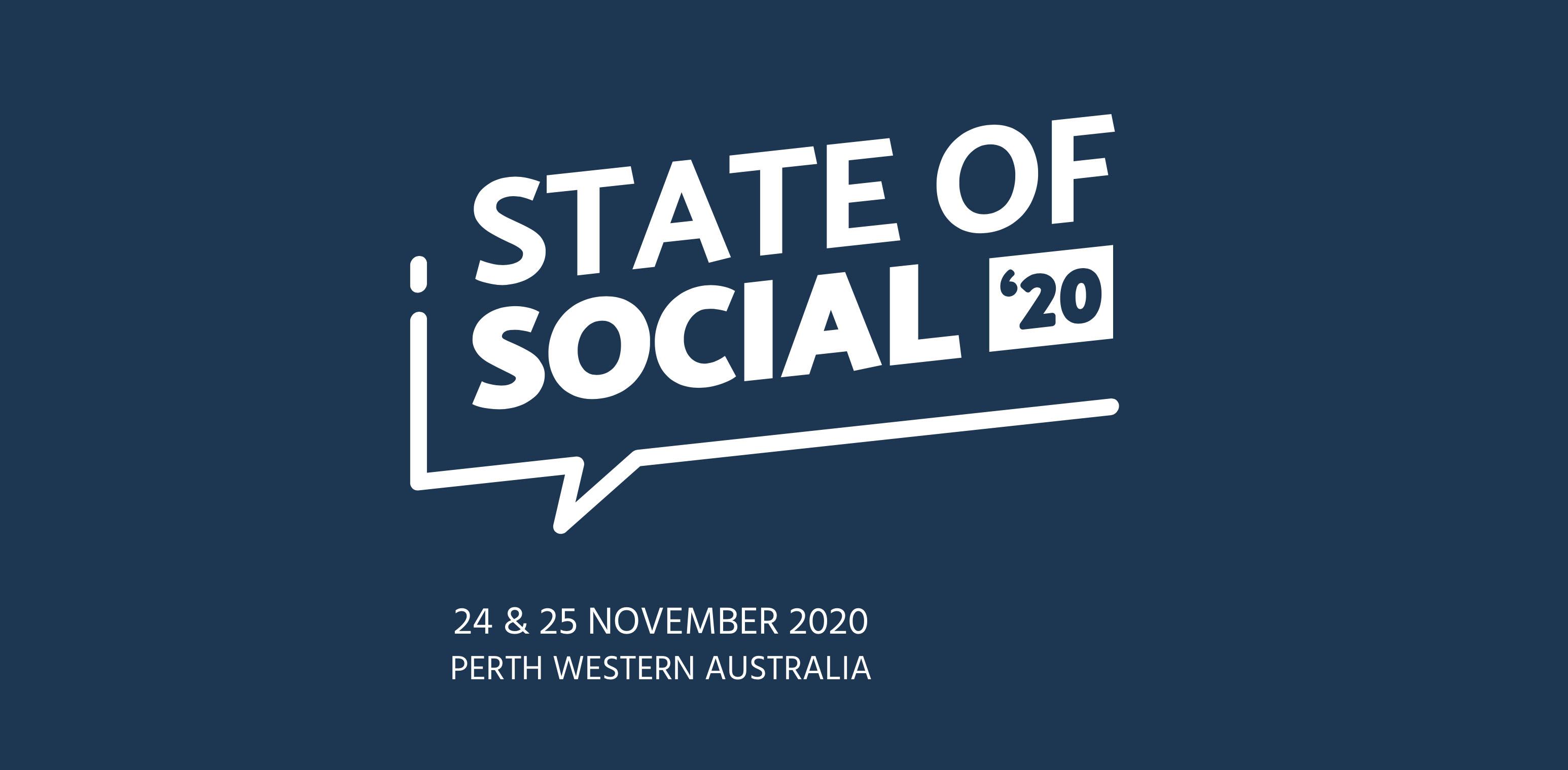 Social Media Conference State of Social postponed to November 24 & 25
