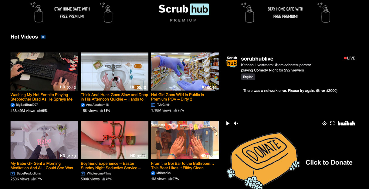 Best Ad of the Day: ScrubHub 'Parody Pornsite' by Ani Acopian and Suzy Shinn
