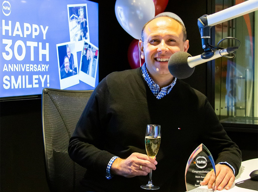 30 Years in radio for 96FM's Mark 'Smiley' Pascoe
