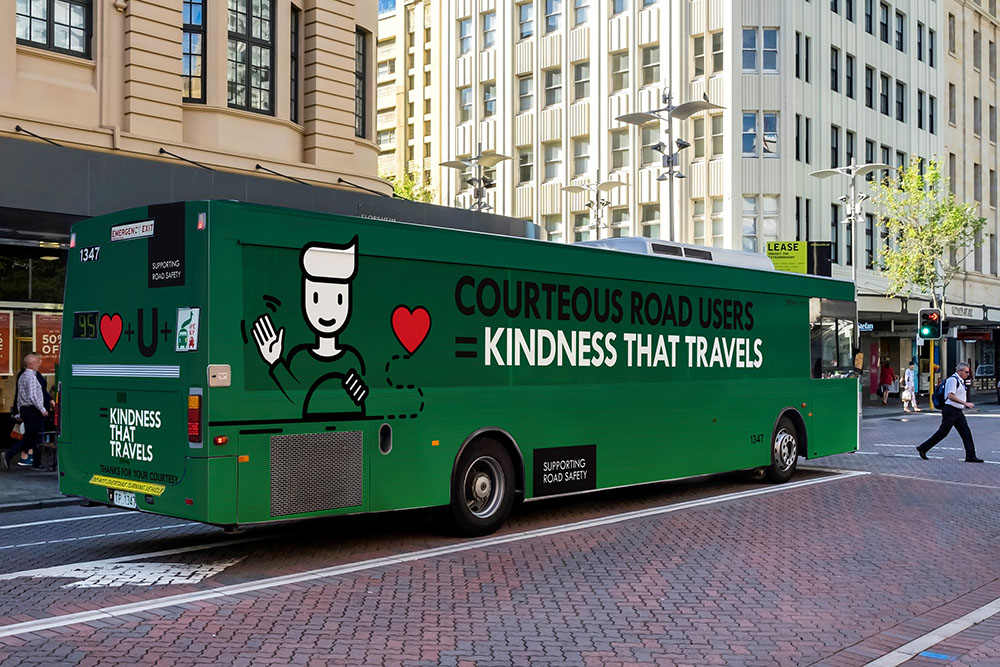JCDecaux features Road Safety Commission 'Kindness Travels' campaign across its Out-of-Home bus network