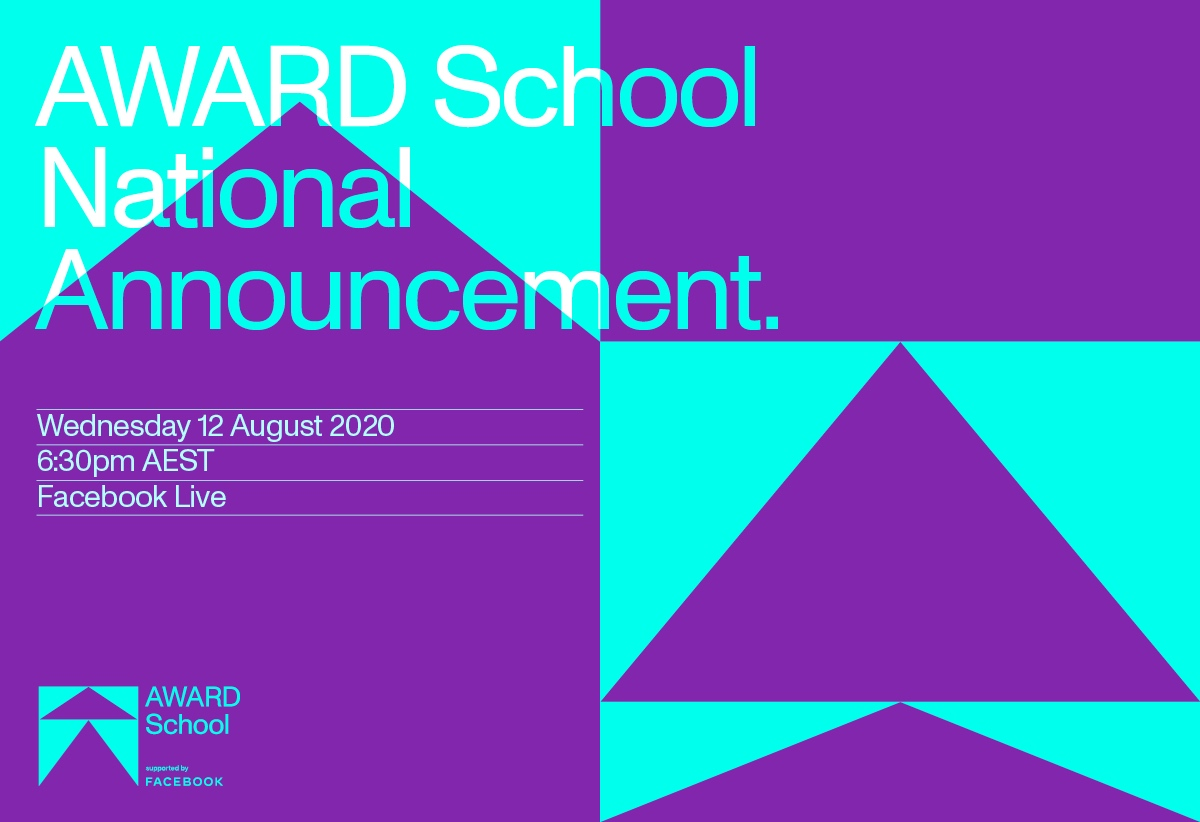 AWARD School 2020 National Winner to be announced via a virtual celebration on 12 August