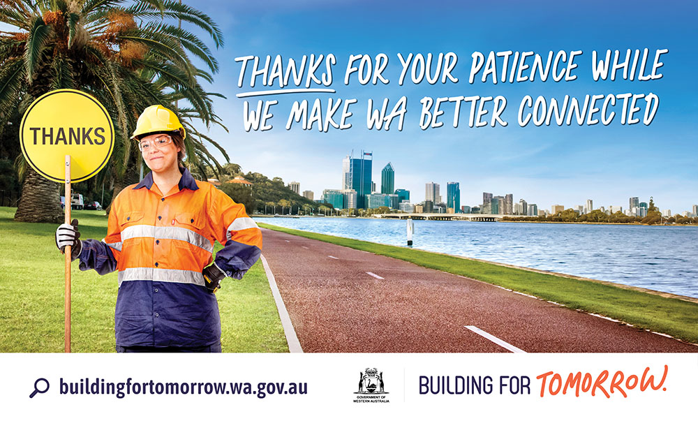 WA State Government launches new transport infrastructure campaign via The Brand Agency