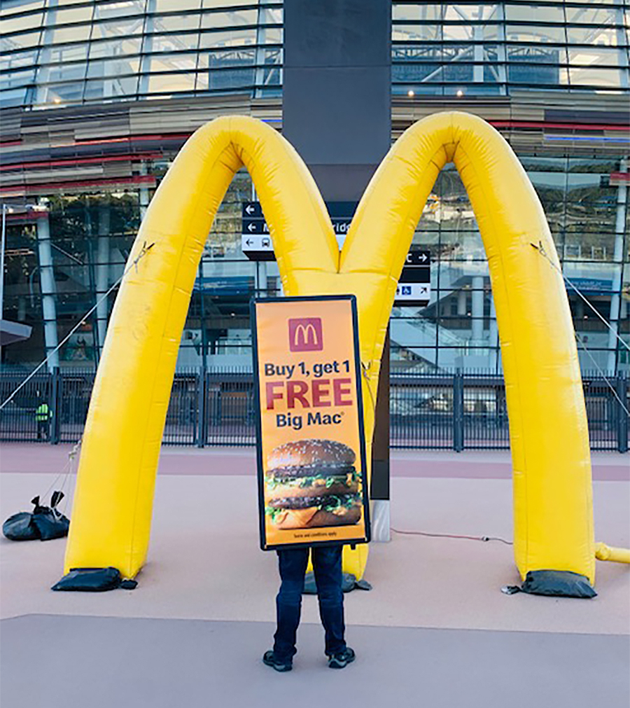 AdBoards Plus delivers for McDonald's at WA's largest sporting event for 2020