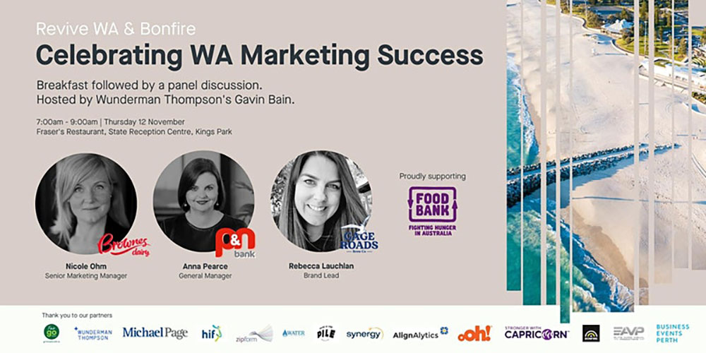 Bonfire and Revive WA Set the Stage for a WA Marketing Showcase: Next Thursday November 12