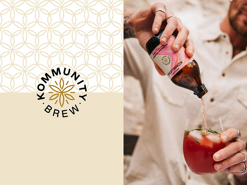'POP OPEN A BOTTLE OF CULTURE': KOMMUNITY BREW UNVEILS A NEW BRAND IDENTITY BY BLOCK