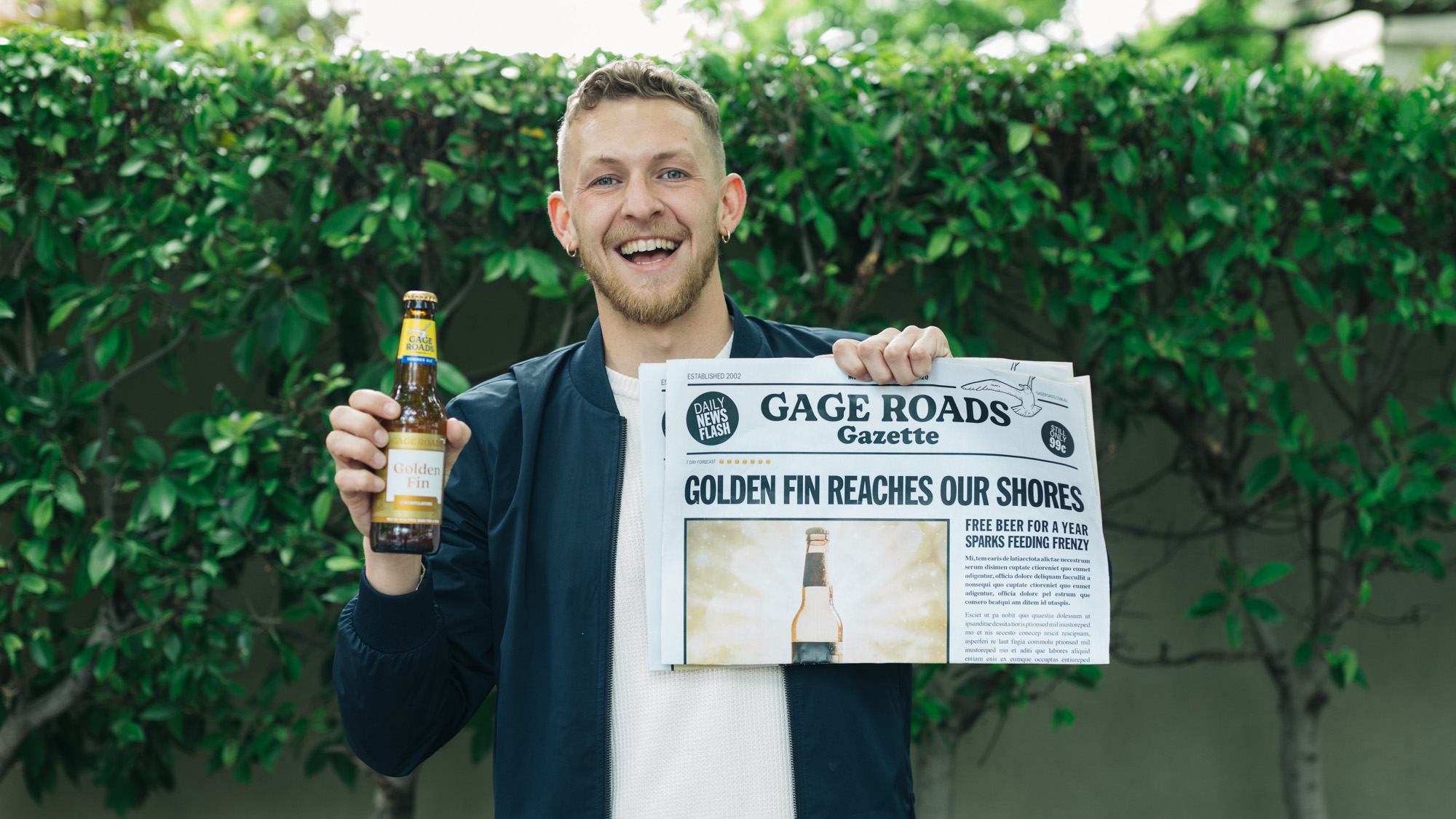 Gage Roads Brewing Co Recreates The Willy Wonka Golden Ticket via MITP Agency