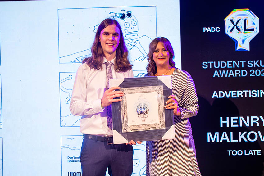 Henry Malkovic, Angelica Garland + Thy Ngoc Vo named top students at PADC Student Skulls