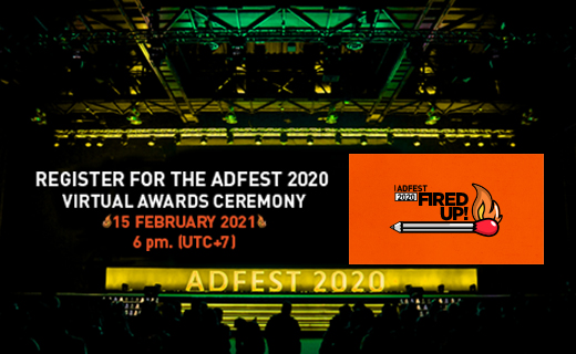 Register now for the AdFest 2020 Virtual Awards Ceremony on Monday, 15th February, 2021