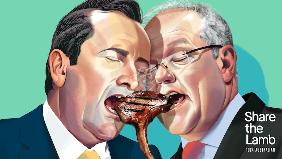 Seen+Noted: Feuding state leaders share the lamb in mural activation for Australian Lamb