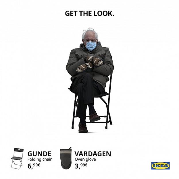 Seen+Noted: Bernie Sanders' inauguration look stars in humorous topical IKEA ad