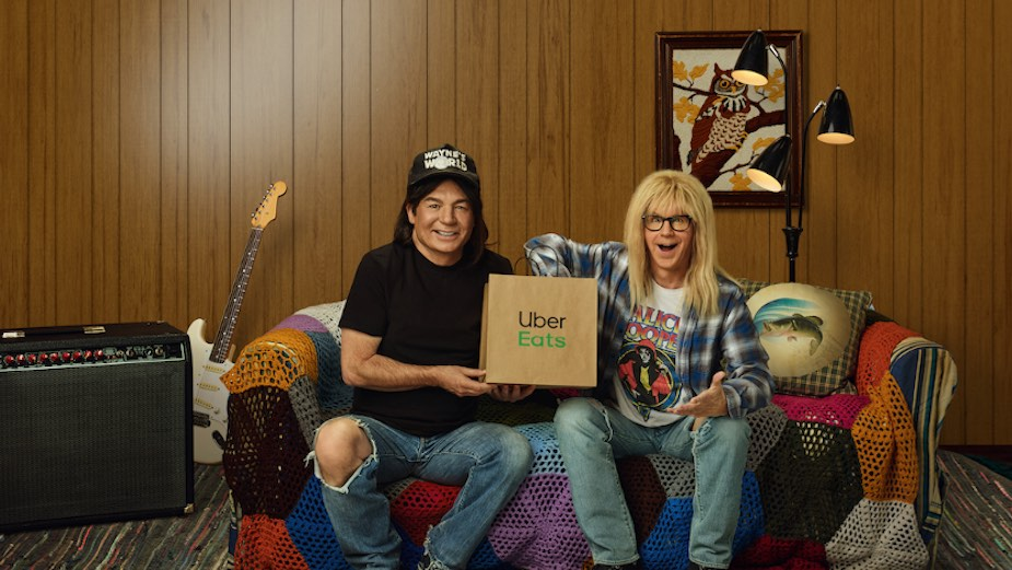 Seen+Noted: Uber Eats brings back Wayne's World in new Super Bowl ad via Special Group U.S./Aust
