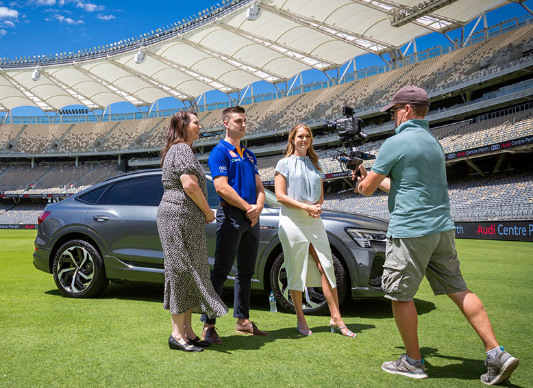 The West Coast Eagles team up with 9News and 96FM in new Audi e-tron competition