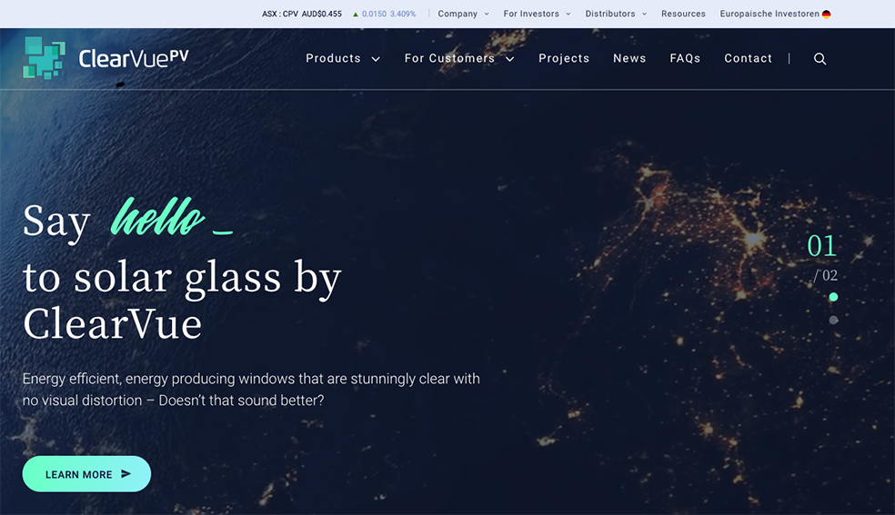 Firefly360 launches new website and campaign for ClearVue targeting North America + Europe