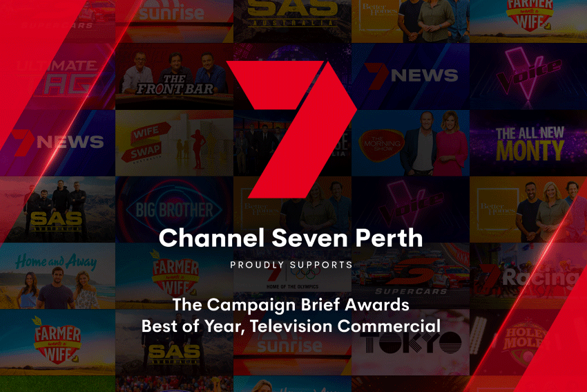 Gatecrasher wins 2021 Best of Year award in TV Single category at the Campaign Brief WA Awards for 'Yeah, Nah' for Road Safety Commission