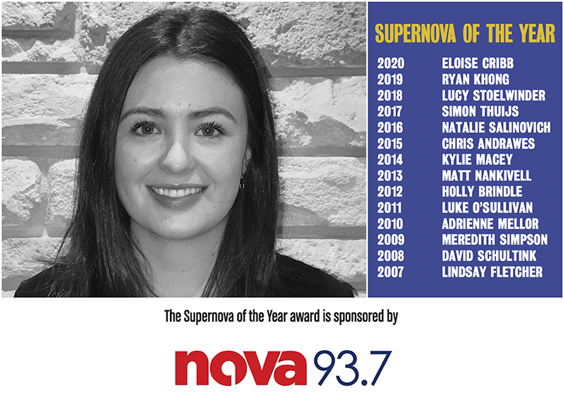 303 MullenLowe's Eloise Cribb named Supernova of the Year at 2021 Campaign Brief WA Awards