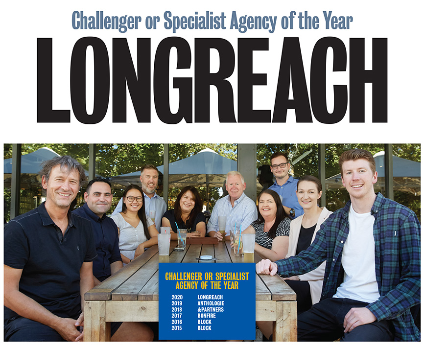 Longreach takes out Challenger or Specialist Agency of the Year at 2021 Campaign Brief WA Awards