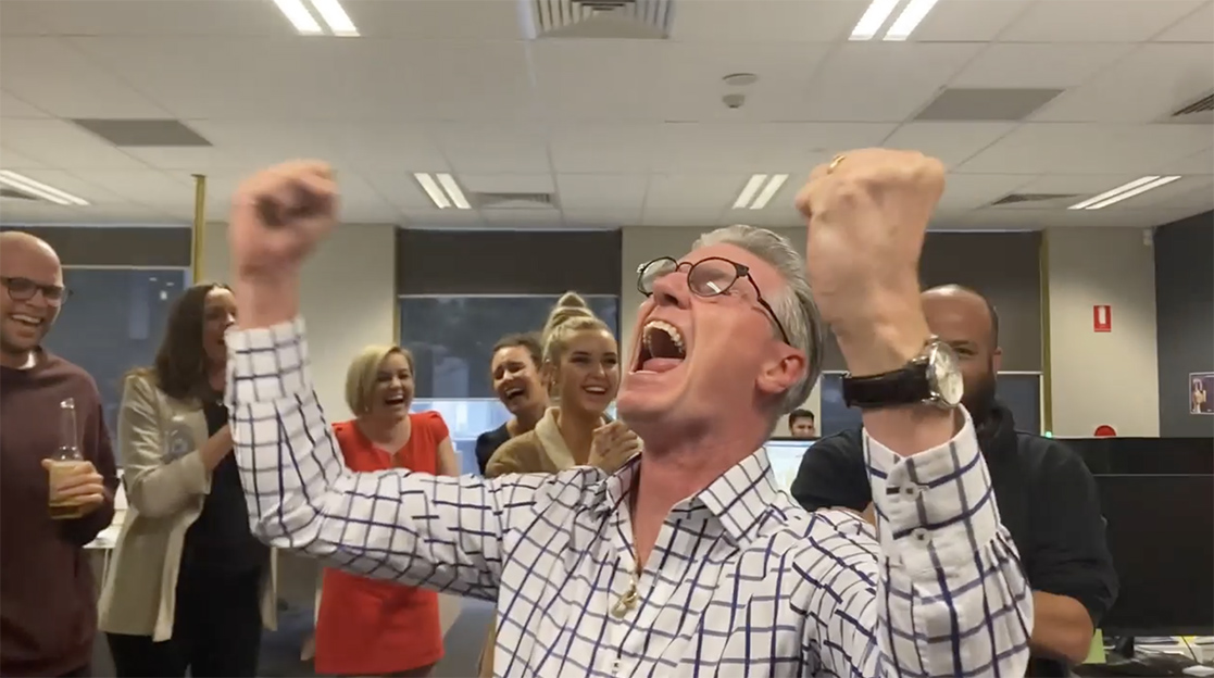 Rare reaction to Agency of the Year win