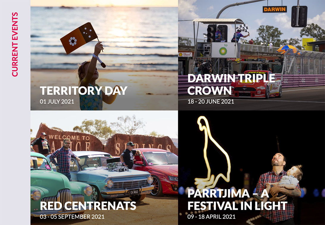 Marketforce reach finalist stage at 2021 Australian Web Awards for NT Major Events Company website