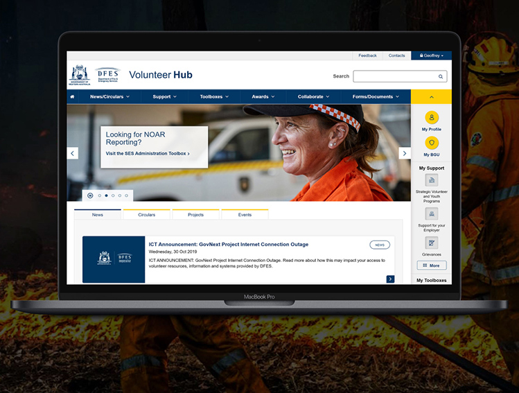 Equilibrium wins International Public Sector Website Award for Department of Fire and Emergency Services' volunteer hub
