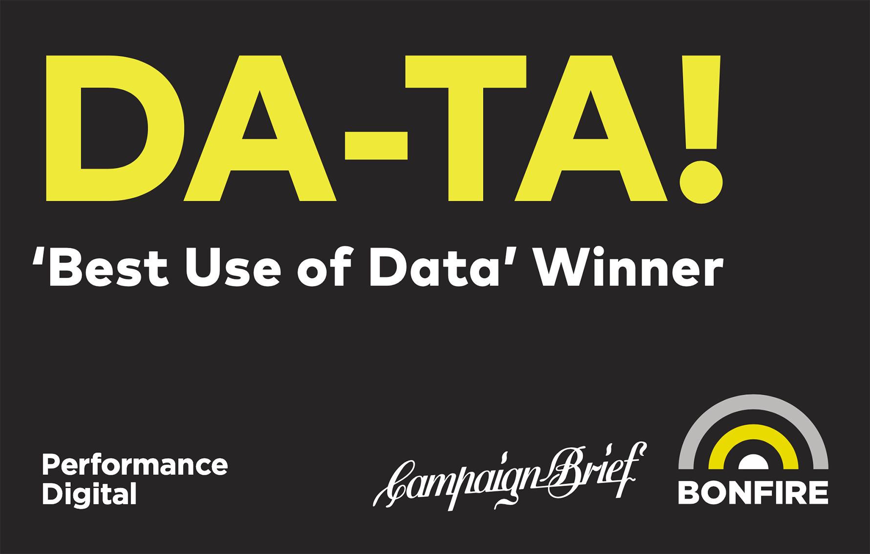 Bonfire stops traffic with new Da-Ta! billboard via &Partners