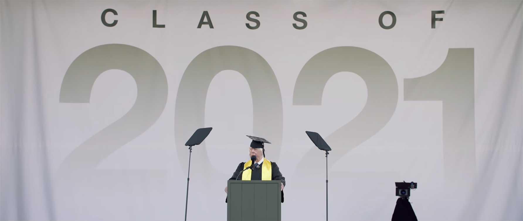 Seen+Noted: Change the Ref stunt sees former NRA president address the 3,044 students that did not graduate this year due to gun violence