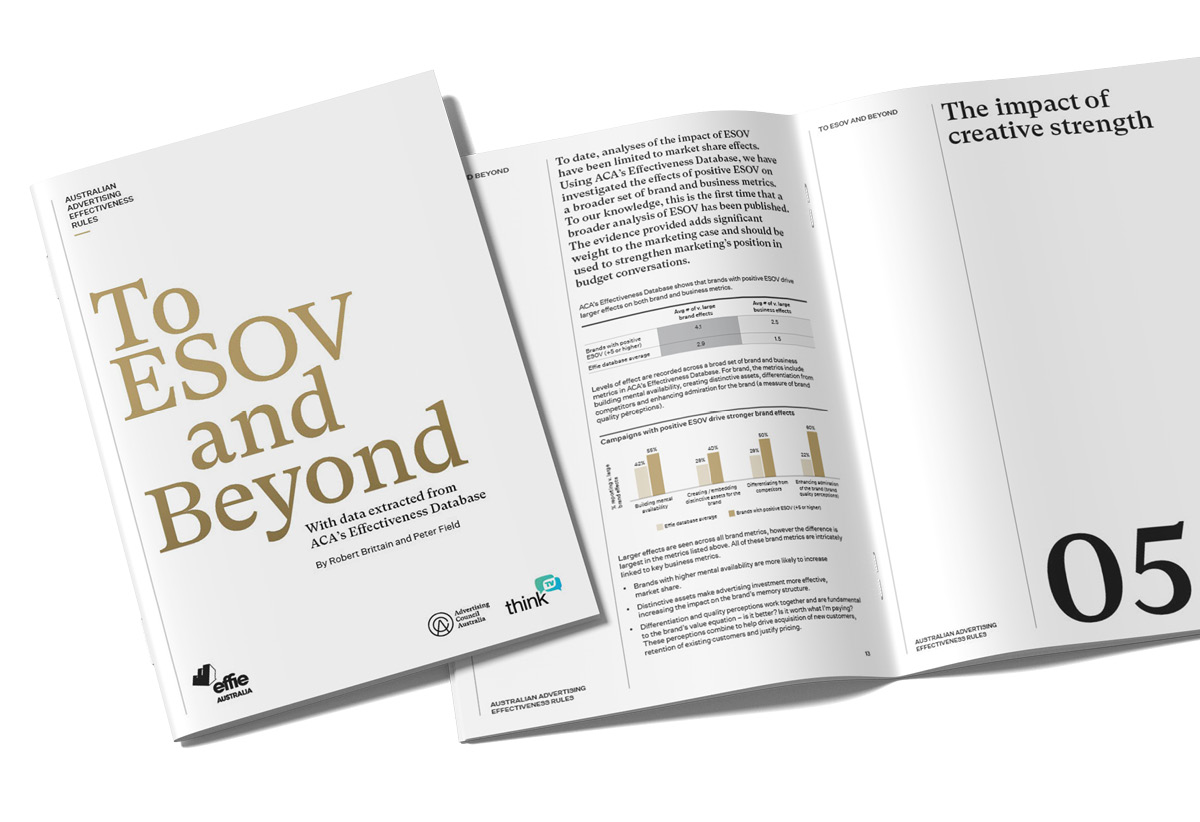 ACA launches new report: Australian Advertising Effectiveness Rules: To ESOV and Beyond