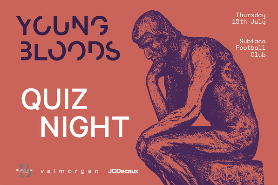 Book your table for the youngbloods quiz night – Thursday 15th July