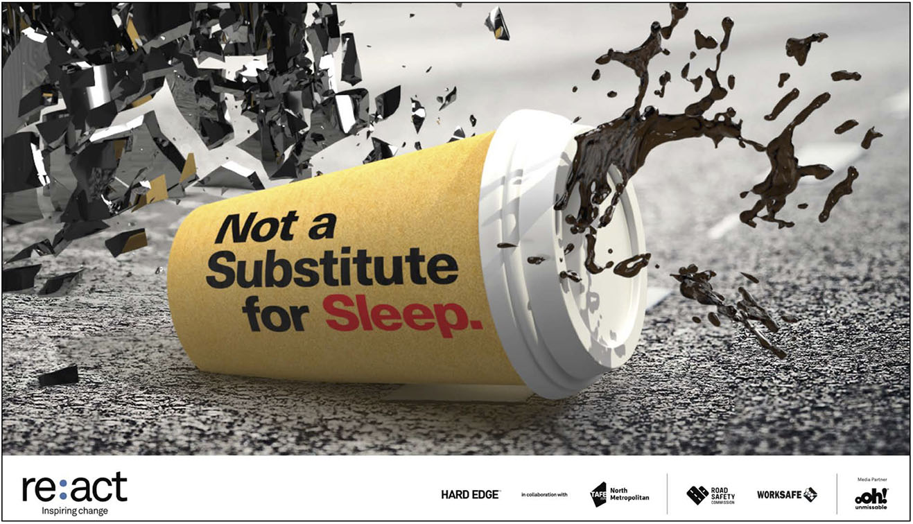 TAFE student Stephanie Simpson wins Re:act TAFE WA road safety campaign competition that focuses on myths around combating fatigue