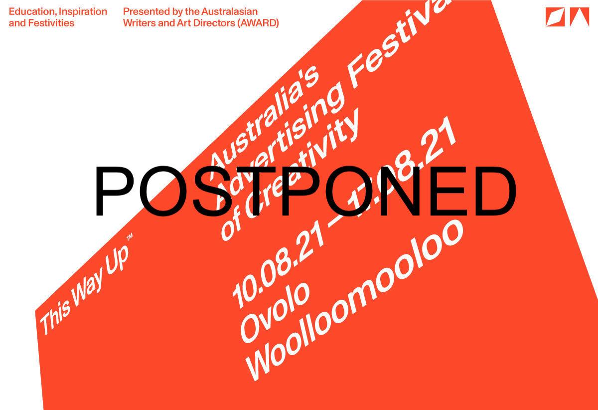 AWARD postpones This Way Up: Australia's Advertising Festival of Creativity