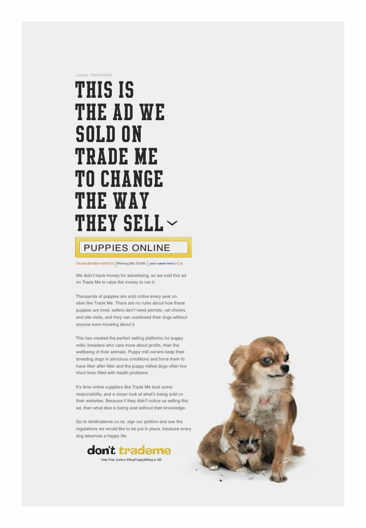 Paw Justice launches new 'Don't Trade Me' campaign to