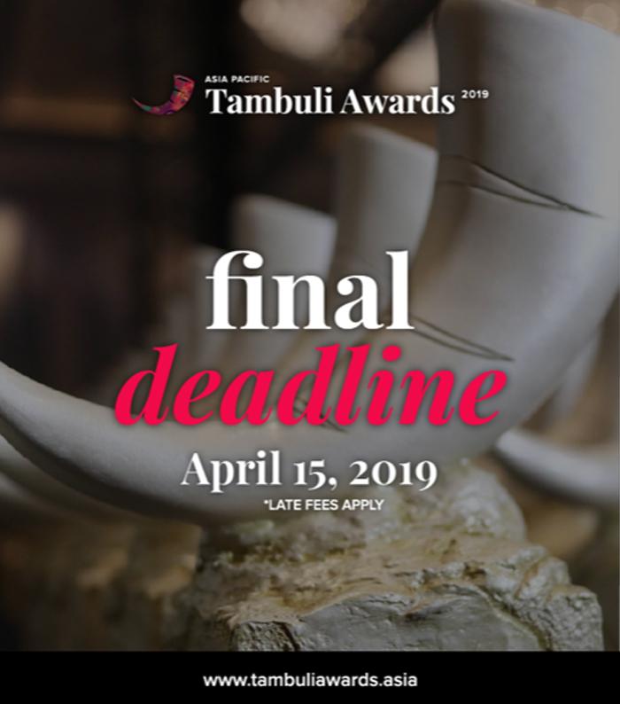 Asia-Pacific Tambuli Awards 2019 announces final entry deadline to April 15
