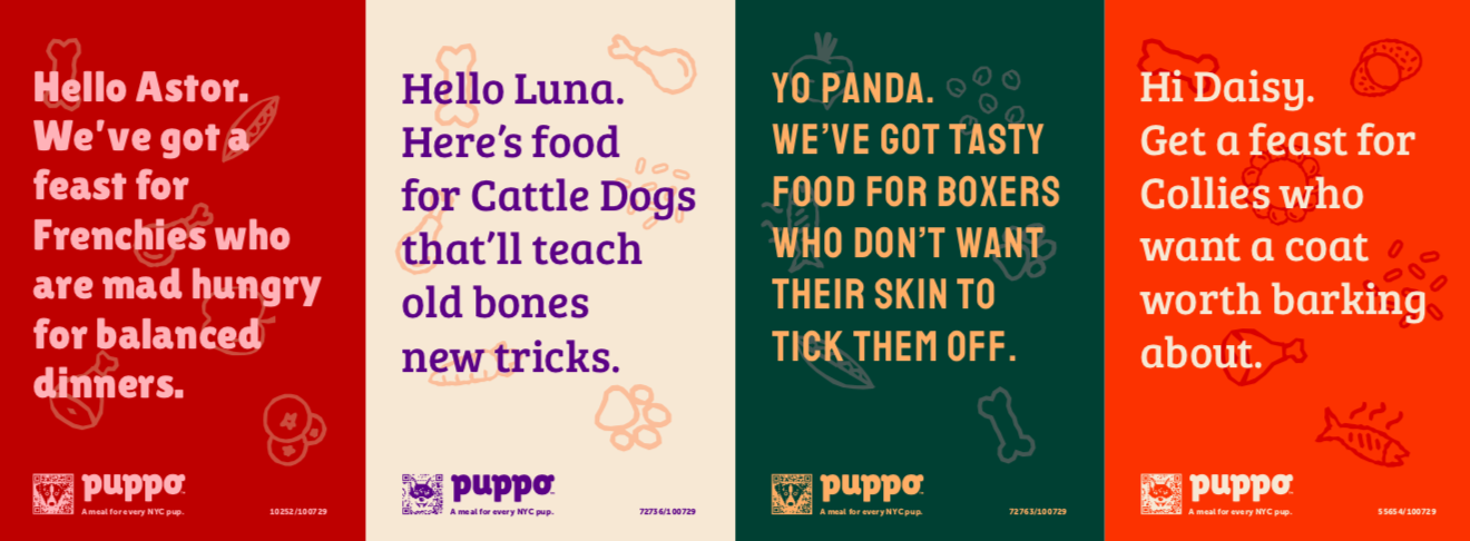 Puppo creates ads for every dog in New York City in newly launched campaign via Colenso BBDO