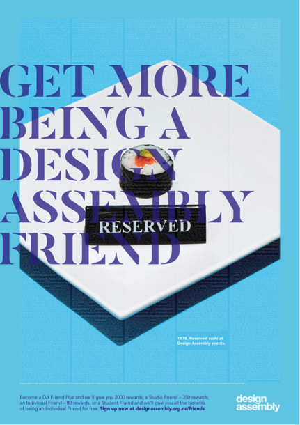 Design Assembly launches new 'Get More Being a DA Friend' campaign via Auckland agency RUN