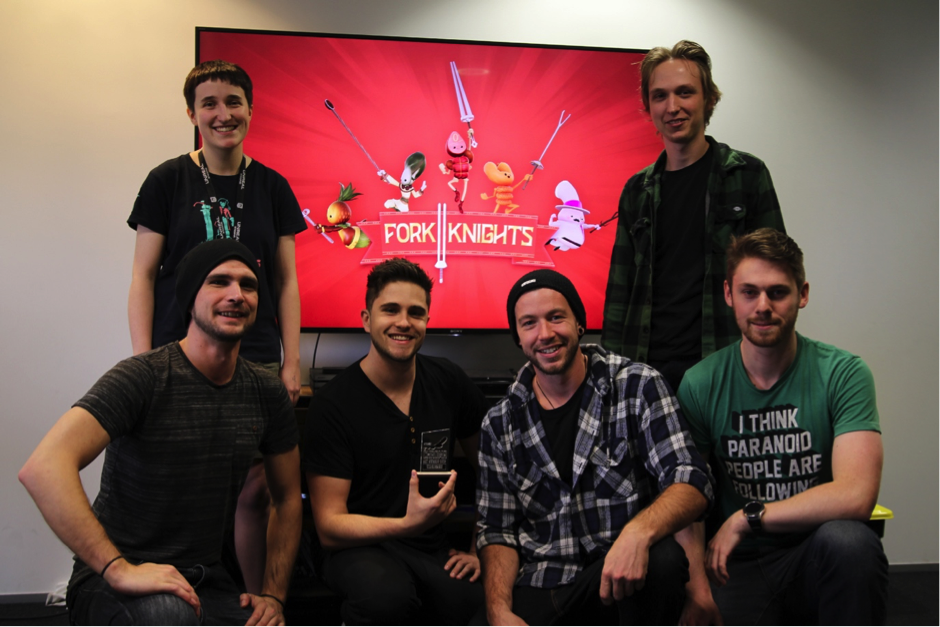 Media Design School Students' 'Fork Knight' wins Student Game Of the Year at Chromacon 2019