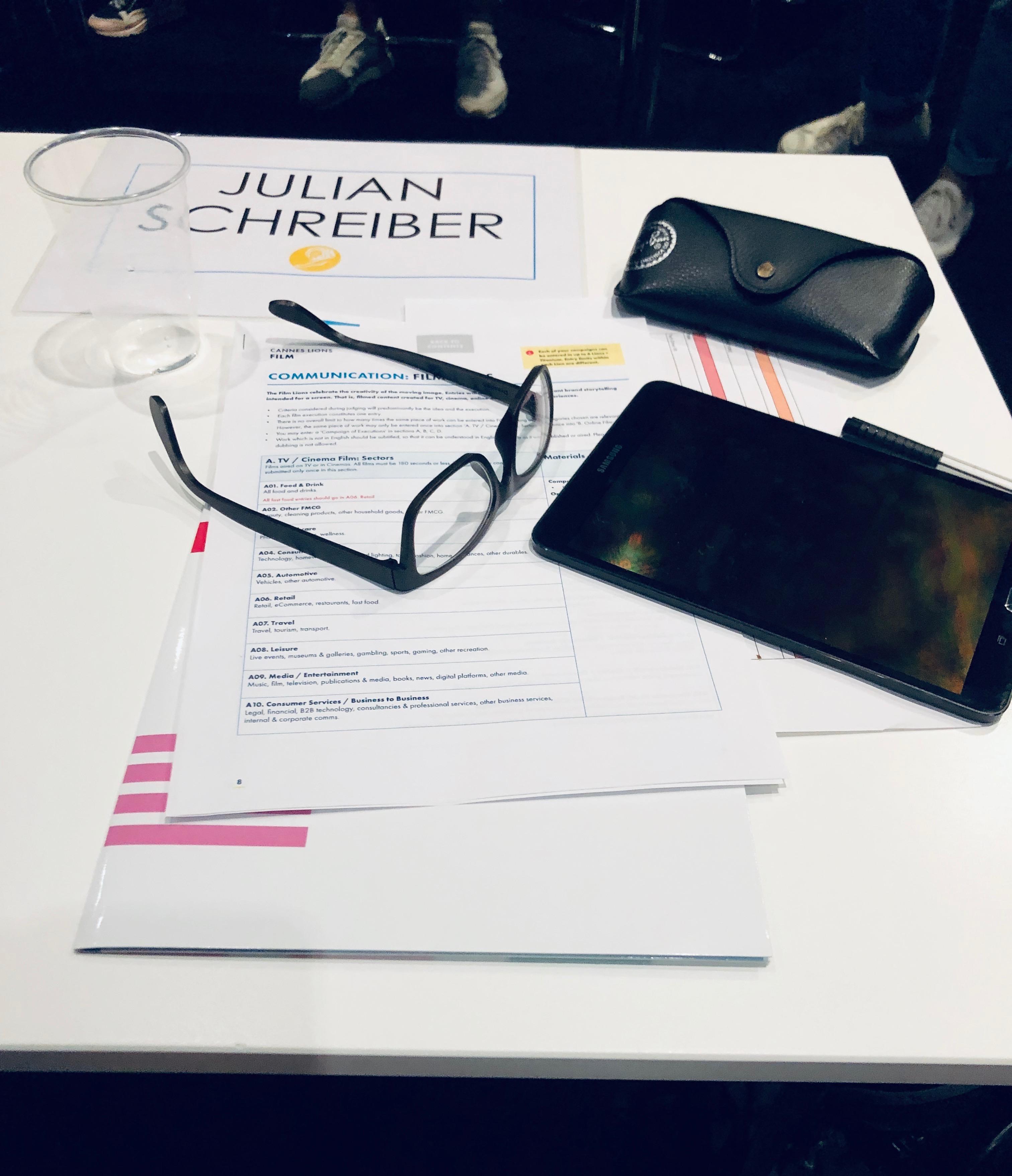 Julian Schreiber's Cannes Diary #1