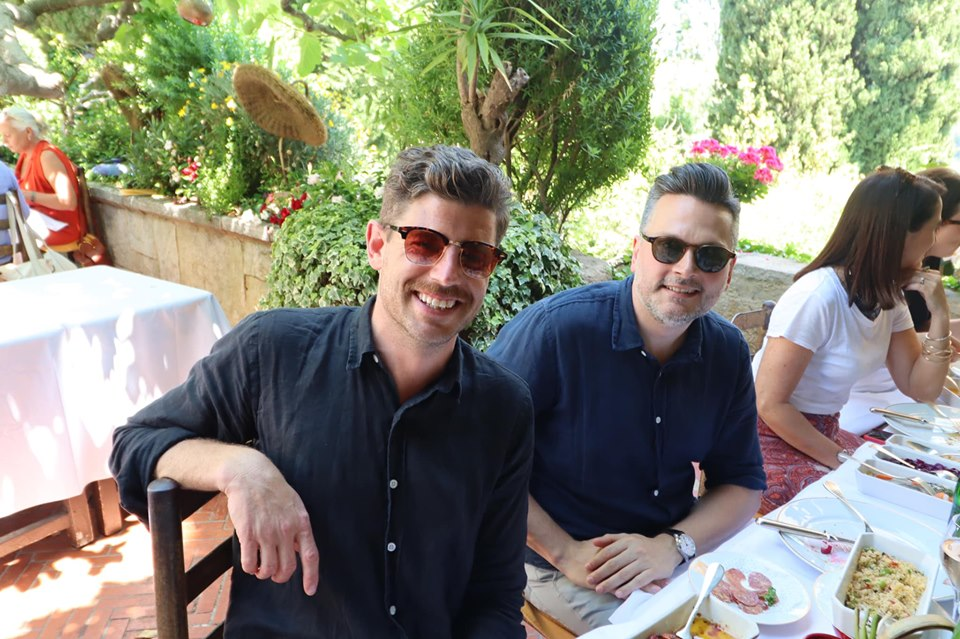 The Legendary Campaign Brief Colombe d'Or Lunch – the heavy advertising hitters hit the rosé in St Paul de Vence