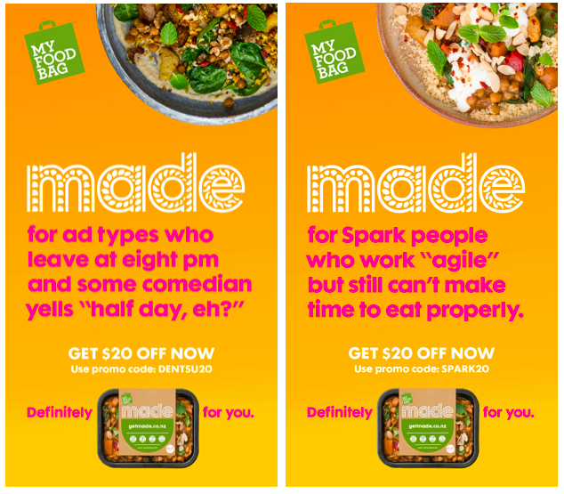 My Food Bag launches targeted ads to promote 'MADE' range via Saatchi & Saatchi and Zenith