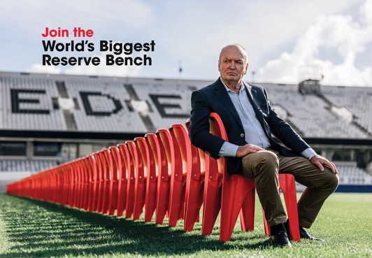 Sir Graham Henry asks Kiwis to help him fill the World's Biggest Reserve Bench for NZ Blood Service's latest campaign via YoungShand