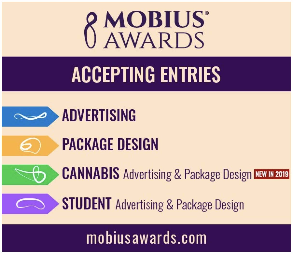 Mobius Awards advertising competition now open; deadline for entries TODAY, Tues, October 1