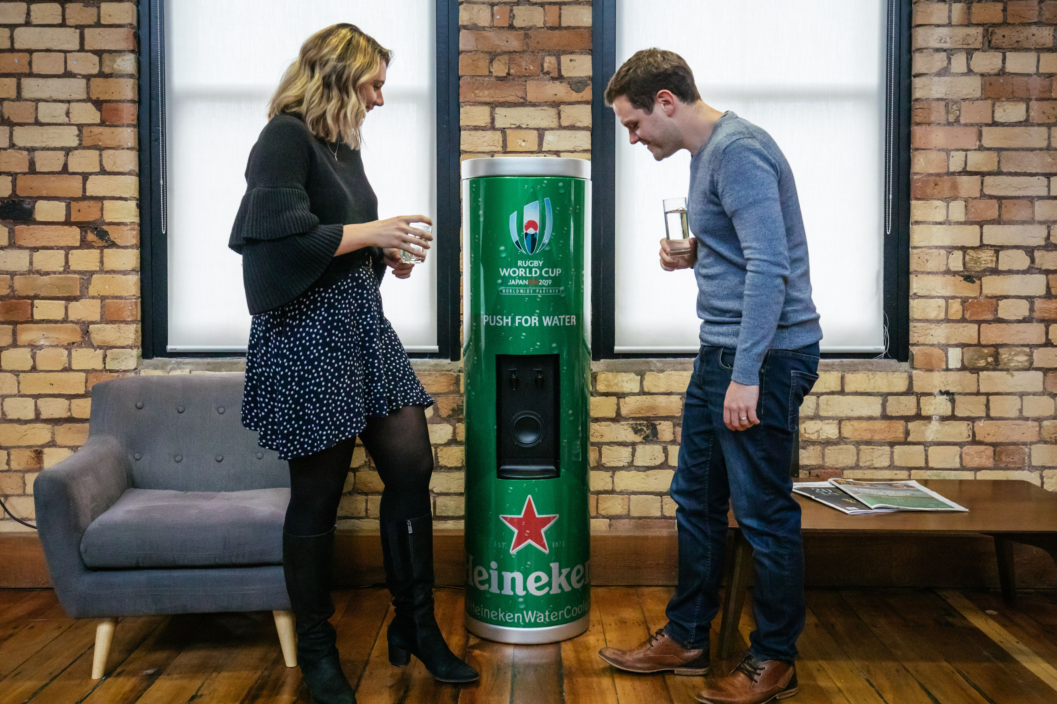 Heineken invents the 'talking water cooler' to arm Kiwis with rugby chat via DarkHorse