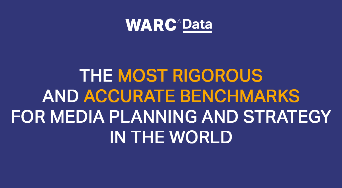 WARC Data relaunched; most rigorous + accurate benchmarks for media planning and strategy