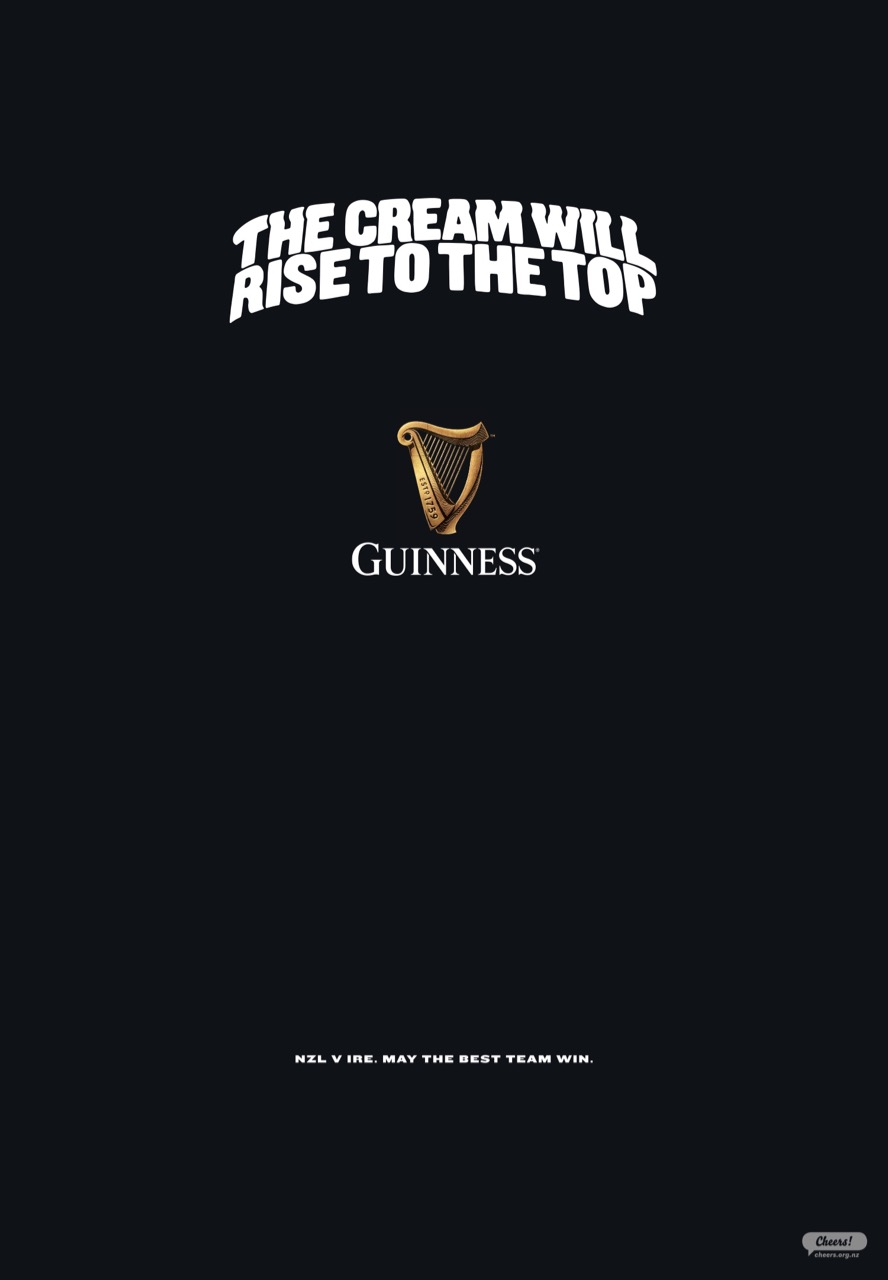 Guinness raises a glass to the love of rugby in new campaign via Special Group New Zealand