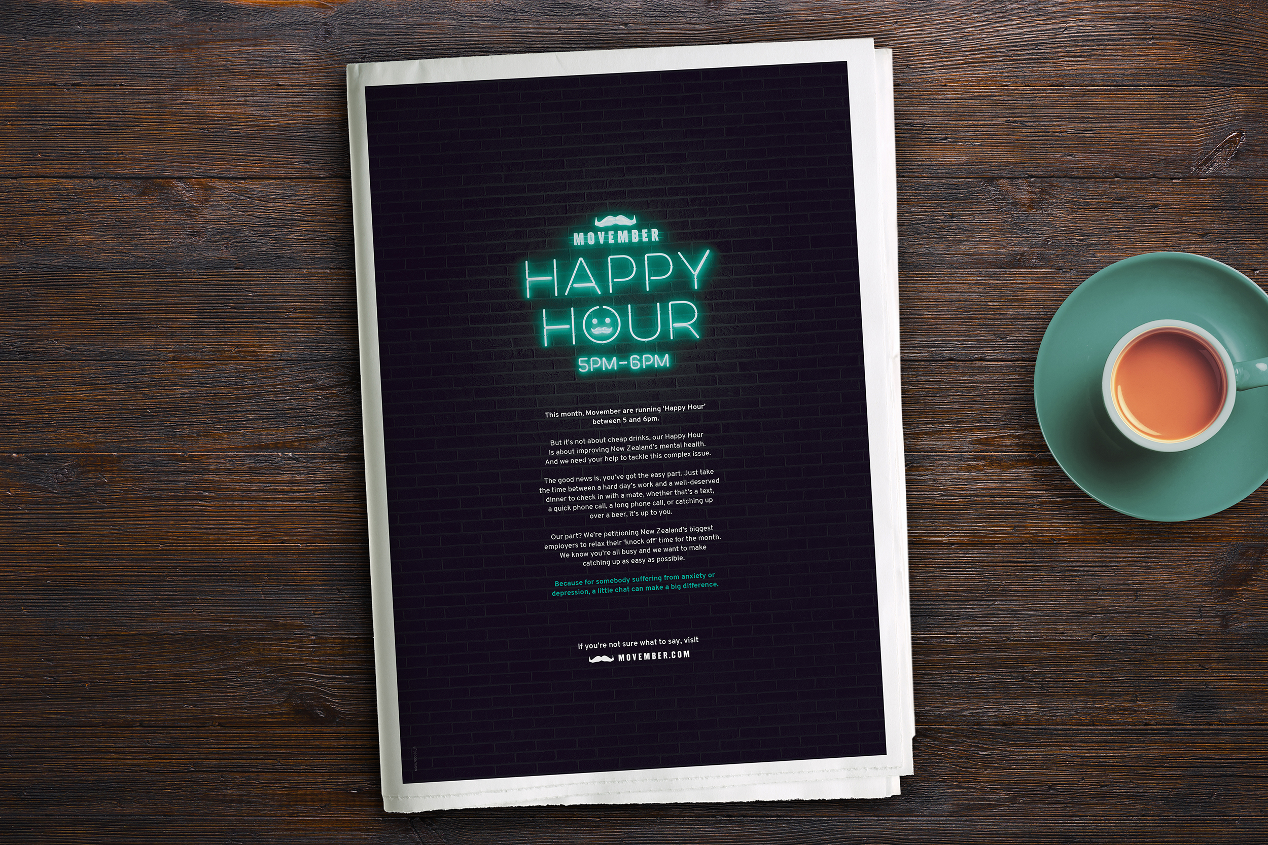 The Movember Foundation and Dentsu Aegis Network launch new 'Happy Hour' campaign