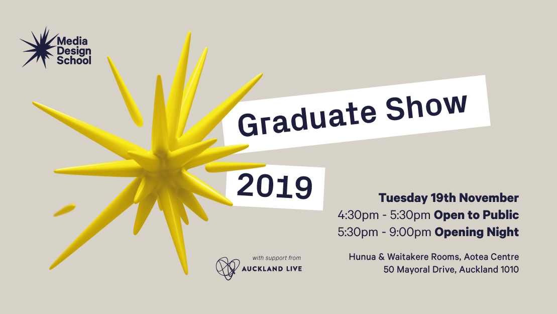 Media Design School Graduate show set for Tuesday, 19 November at the Aotea Centre