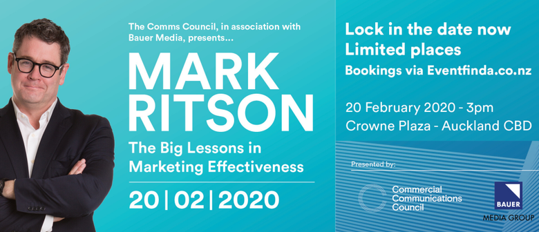 Early bird tickets now on sale for Mark Ritson's 'Big Lessons in Marketing Effectiveness' talk, Thursday, 20 February, Crowne Plaza, Auckland